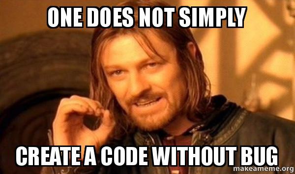 bugs in code